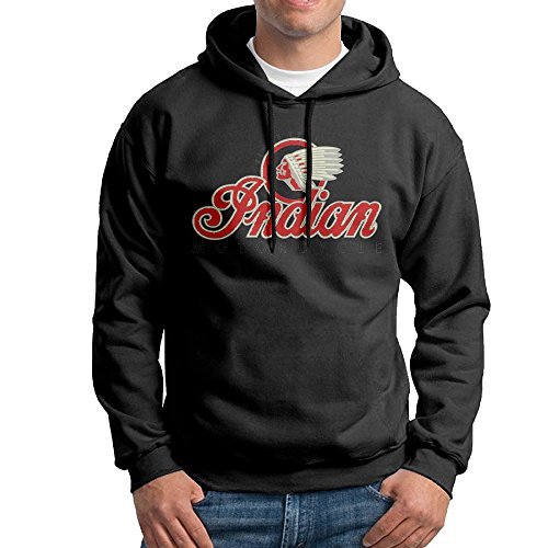 Price comparison product image Musictoboys Men's Indian Motorcycles Symbol Value Logo Sports Pullover Black