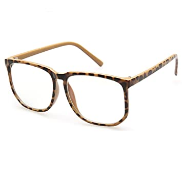 8776f78a28 Oversiezd Large Frame Clear Lens Glasses Anti Blue Light Square  Anti-Fatigue Glasses Nerd Black