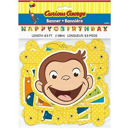 Amazon.co.jp: おさるのジョージ バースデーバナー キュリアス