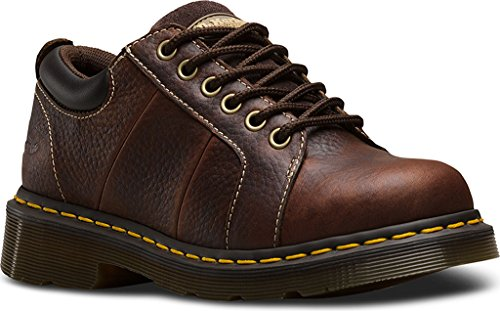 Dr. Martens Womens Mila NS 6 Eye Leather, Work Oxfords Teak