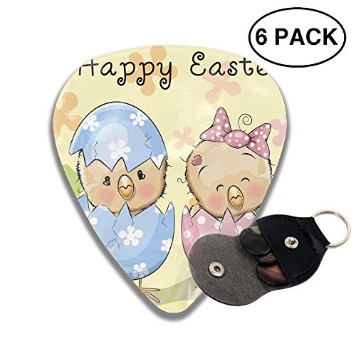 Two Hatched Chicks Celluloid Guitar Picks 6-pcs for Electric Acoustic Guitar