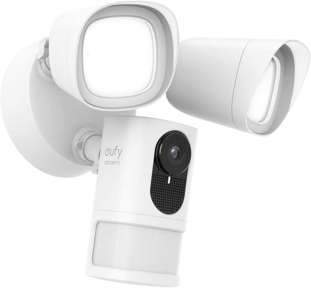 eufy AK-T84201W1 Security Floodlight Camera, 1080p,2-Way Audio No Monthly Fees, 2500-Lumen Brightness, Existing Outdoor Wiring and Weatherproof Junction Box Required