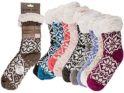 Susis Fashion Shop® - Zapatillas de estar por casa de Poliacrílico para mujer 37/40 marrón oscuro