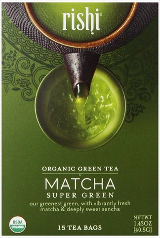 Rishi Tea Organic Super Green Tea Matcha -- 15 Tea Bags by Rishi Tea