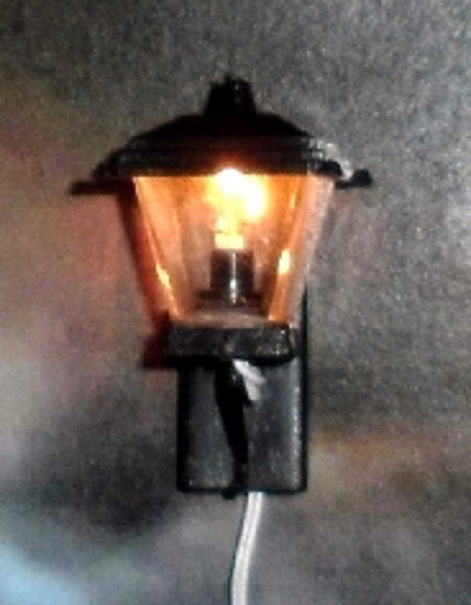 Casa de muñecas Lámpara de luz LED de batería de Calle Negro Linterna Iluminación en miniatura