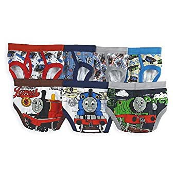 Thomas The Tank Engine Train Toddler Boys' 7 Pack Underwear Briefs, Multi, 4T.