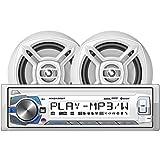 Dual MCP135BT Marine Single-Din In-Dash Digital Media Am/FM Receiver System with Bluetooth (r) & Speakers