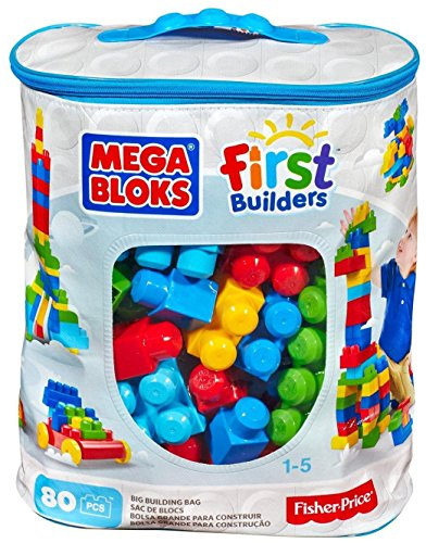 Mega Bloks First Builders Big Building Bag 80-Piece Classic Building Set