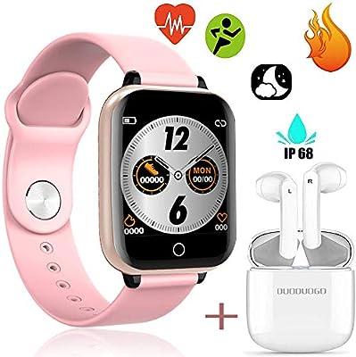 Reloj Inteligente para Mujer y Hombre con Bluetooth y Auricular ...