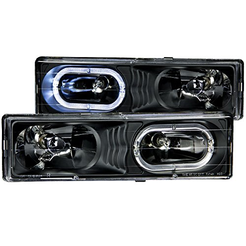 tal With Halo Black Headlight Assembly - (Sold in Pairs) (Anzo Usa Headlight Crystal)