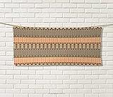 #7: Anniutwo Kente Pattern,Towel,Primitive African Ornament Geometric Borders Native Traditional Tile,Quick-Dry Print Microfiber,Multicolor Size: W 10