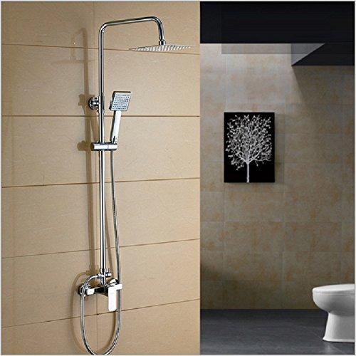 SAEKJJ-Brass Shower Set Shower Hot And Cold The Quartet Concealed Shower Faucet Bathroom faucet hot sale 2017