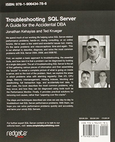 troubleshooting sql server a guide for the accidental dba