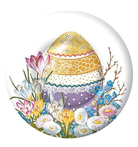 - Ideal Home Range 8 Count Paper Dessert Plates, Decorative Easter Egg, 8