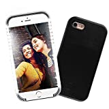 Spruce Selfie LED Light Case for iPhone 6/6s Cover with Rechargeable Backup for iPhone 6/6s ... (Black)