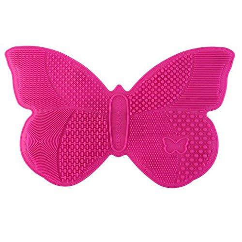 RUIMIO Pinselreiniger Pinsel Reinigen Schmetterling Form(Silikon)