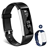 Fitness Tracker - Homogo H2 Fitness Watch Activity Tracker with Sleep Monitor - Smart Pedometer for Step Distance Calories Track (Black+Blue Band)
