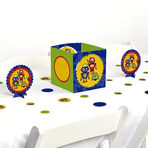 Robots - Baby Shower or Birthday Party Centerpiece & Table Decoration Kit by Big Dot of Happiness