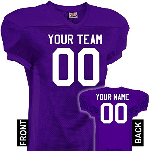 h Time Custom Football Jersey, Adult 4X-Large, Purple (Time Football Jersey)