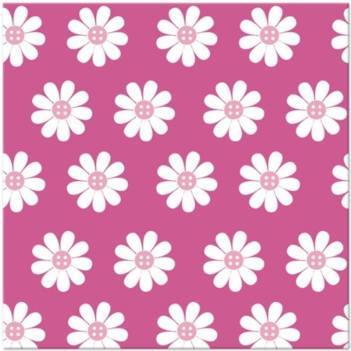 Cute As a Button- Girl Lunch Napkins (16)