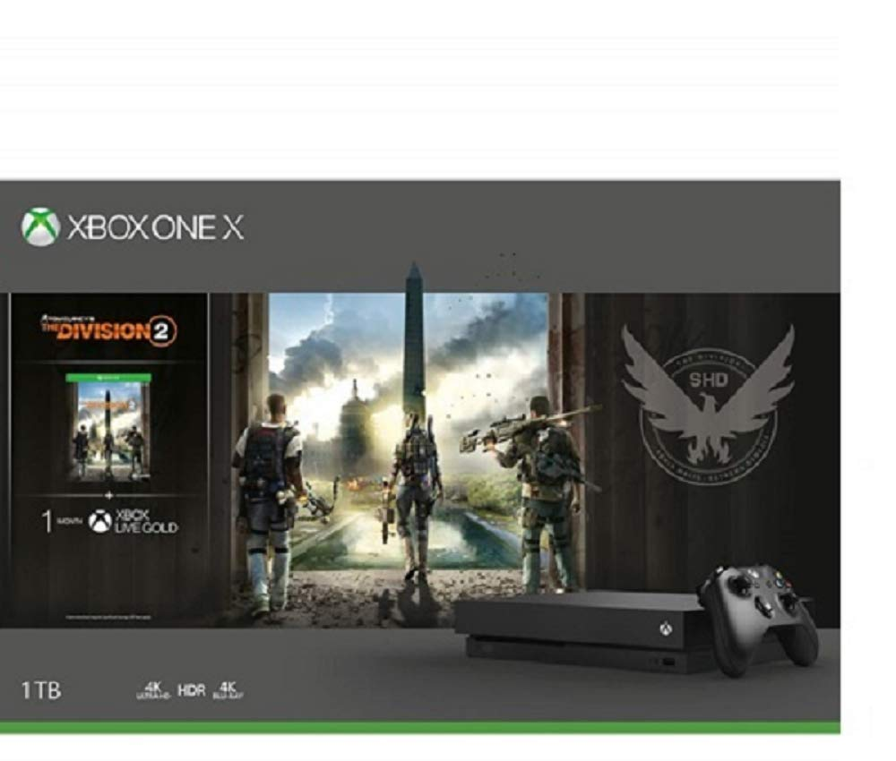 Microsoft Xbox One X 1TB Console - Tom Clancy's the Division 2 Bundle product image
