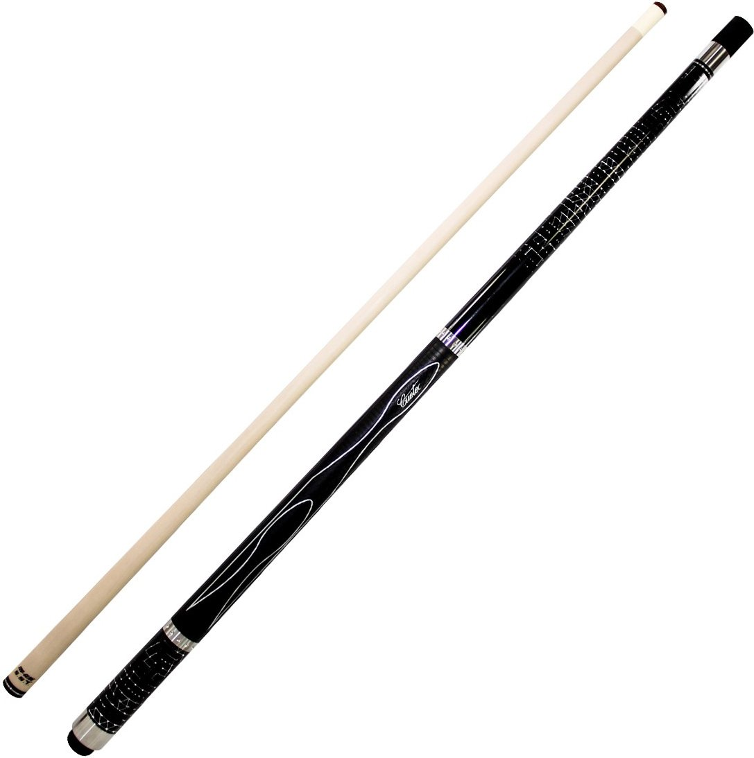 Cuetec Gen-Tek Series 58'' 2-Piece Canadian Maple Billiard/Pool Cue, Black by Cuetec