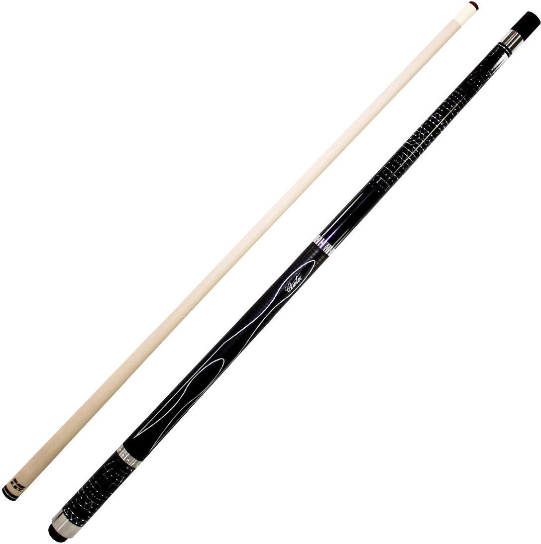 Cuetec Gen-Tek Series 58'' 2-Piece Canadian Maple Billiard/Pool Cue, Black