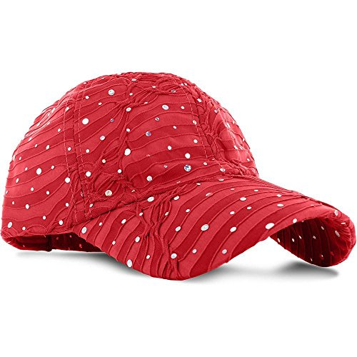 RD3_(US Seller)Women Lady Summer Hat Sun Golf Glitter Sequin Baseball Cap
