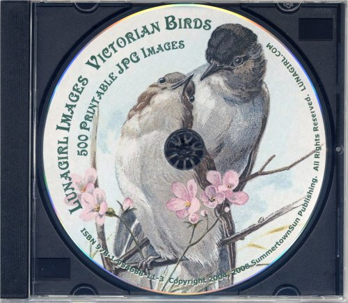 Victorian Birds - 500 antique greeting cards, scraps, die cuts, antique labels, paintings, nature prints & illustrations