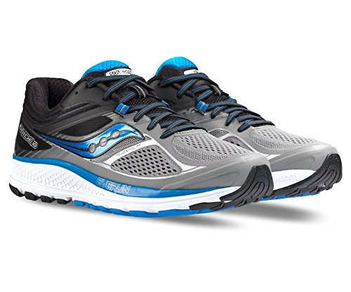 Saucony Men's Guide 10 Running Shoes, Grey Black, 9 W US
