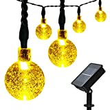 ApexPower Outdoor Christmas Solar String Lights 30 led Crystal Ball Waterproof Light for Garden, Yard, Home, Landscape, and Holiday Decorations (Warm White) ()