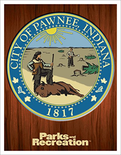 Culturenik Parks and Recreation Pawnee City Seal Workplace Comedy TV Television Show Poster Print, Unframed - Tv Show Poster