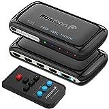 Fosmon 4-Port 4Kx2K HDMI Switch with PIP & Remote Control [Enhanced Stability PC Board]