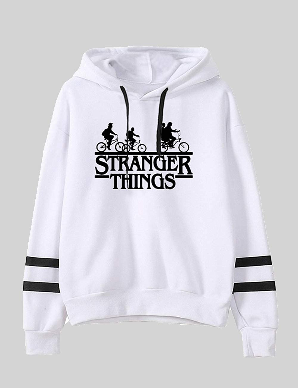 Sudadera Stranger Things Mujer con Capucha 3D Impresi/ón Manga Larga de Invierno Ropa Unisex Sweatshirt Abecedario Impresi/ón Regalo Raya de b/éisbol Sudadera Stranger Things Hombre