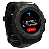 Parnerme GPS Running Watch Heart Rate Monitor Wrist Sport Watch Smart Notifications GPS Smart Watch for Men Women Multi-Sports Modes Compatible Phone with 3-4 Days Standby  Charging Station (Black)