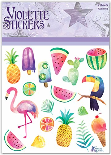 Violette Stickers Tropical Fruit Party