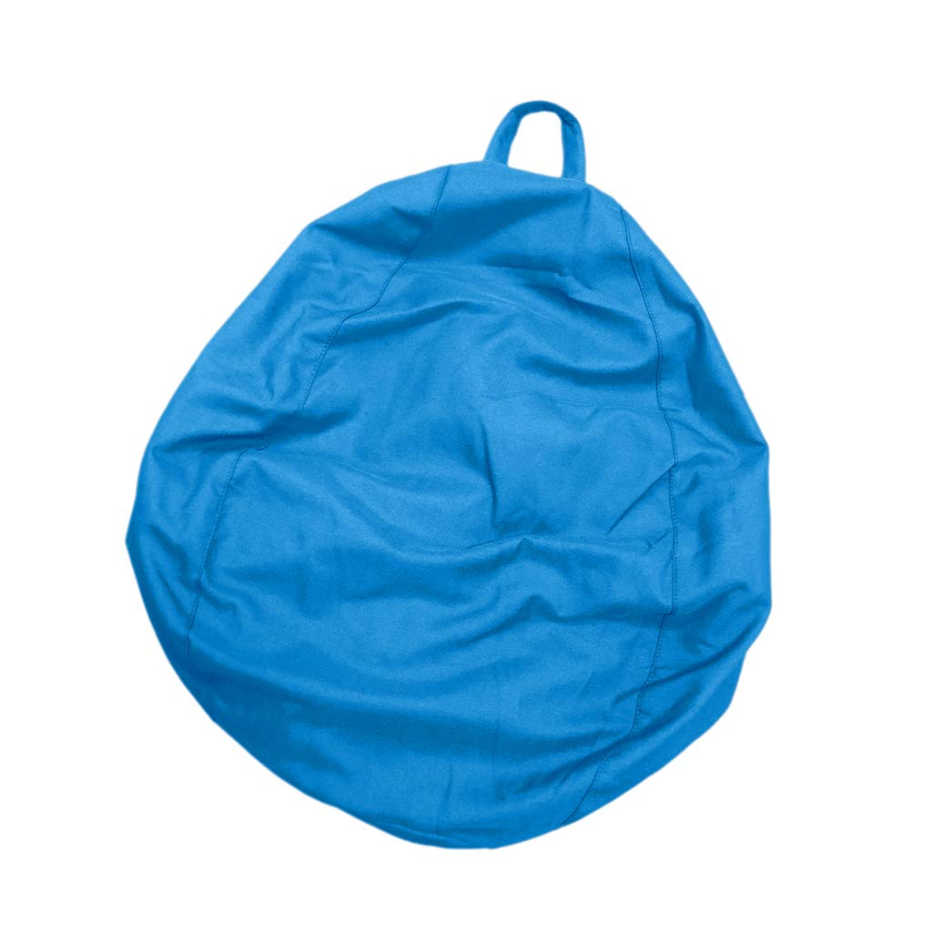 D DOLITY Adult Size Large Classic Bean Bag Chair Cover Bedding Clothes Stuffed Animal Toys Storage Bag - Sky Blue