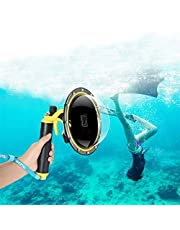 for GoPro Dome Port, GoPro Accessories for Dome GoPro Hero 5 6 7 2018 Black with Trigger Pistol and Floating Grip Housing,for GoPro Camera Underwater Case (for GoPro Hero 7 6 5)
