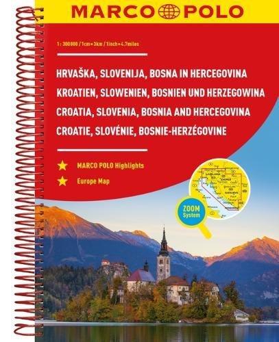 MARCO POLO Reiseatlas Kroatien, Slowenien, Bosnien und Herzegowina 1:300 (MARCO POLO Reiseatlanten)