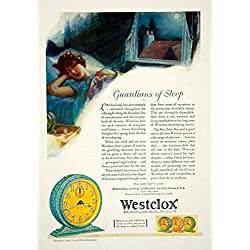 1929 Ad Westclox Alarms Pocket Watches Auto Clocks Time Sleep Bedroom Night YGH3 - Original Print Ad
