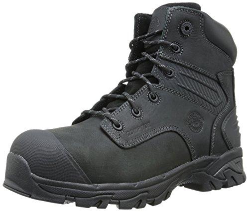 Boots Justin Logger (Justin Work Footwear Men's Sabre Composite Work Boot,Carbon Black,7.5 W US)