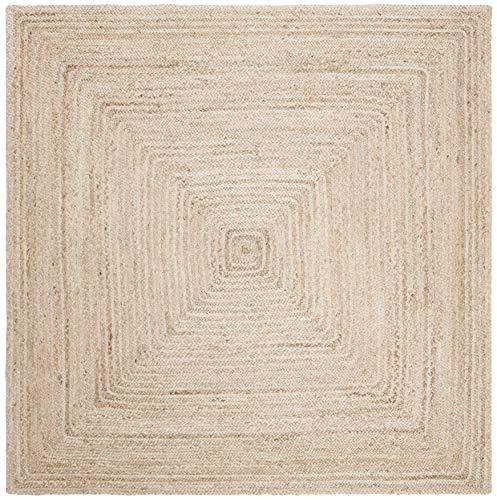 Safavieh CAP252A-6SQ Rug, 6' Square, Natural (Square 6sq)