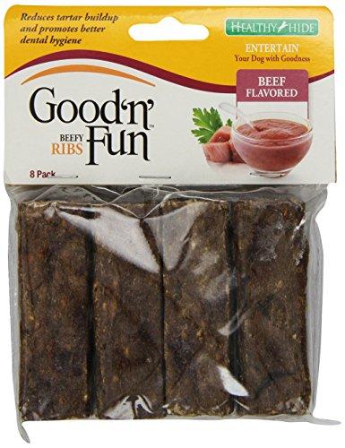 Healthy Hide Good N Fun 8-Pack Crunchy Beef Ribs Treat