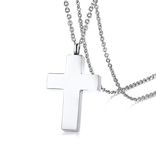 Amazon.com: Vnox - Colgante con forma de cruz para hombre y ...