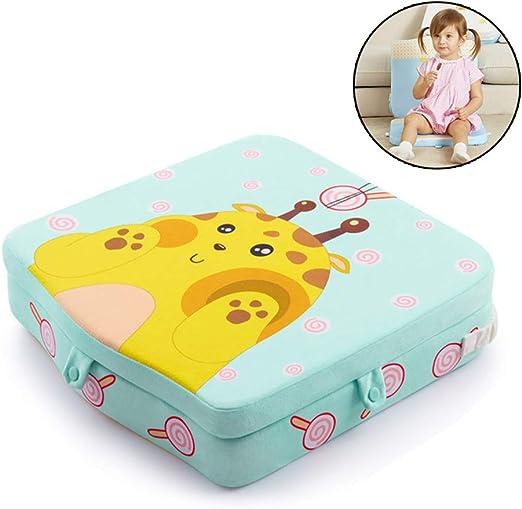 NUOLUX Baby Kinder Sitzkissen Esszimmerstuhl Abnehmbar Erhöhung Kissen Rot