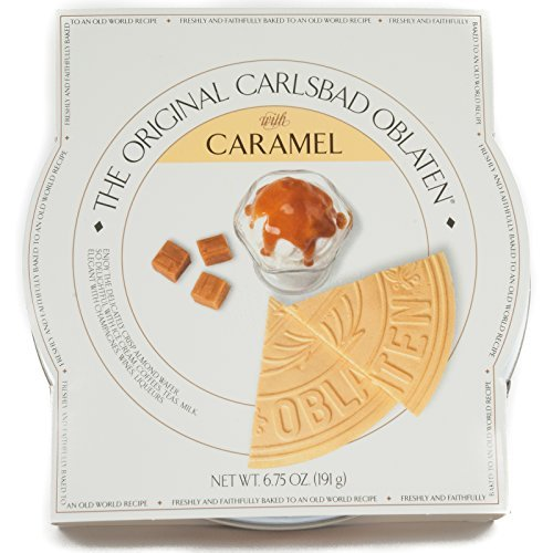 The Original Carlsbad Oblaten 6.75 Oz. Gift Tin, Caramel by The Original Carlsbad Oblaten