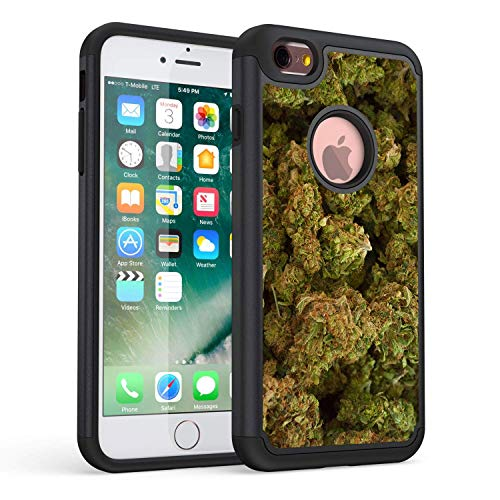 iPhone 6S Case,iPhone 6 Case,Rossy Heavy Duty Hybrid TPU Plastic Dual Layer Armor Defender Protection Case Cover for Apple iPhone 6/6s 4.7 inch,Marijuana Kush Weed (Phone I Cases Weed 6 For)
