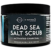 Dead Sea Salt Activated Charcoal Scrub Extreme Pore Cleansing Exfoliating Face & Body Hydrates Detoxifies Anti Cellulite…