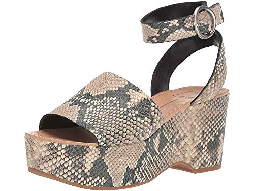 Dolce Vita Women's Lesly Snake Print Embossed Leather 8 M US