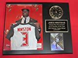 Jameis Winston Tampa Bay Buccaneers Collectors Clock Plaque w/8x10 Draft Photo and Card